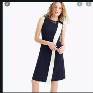 NWT J. Crew Asymmetrical Striped Sheath Dress
